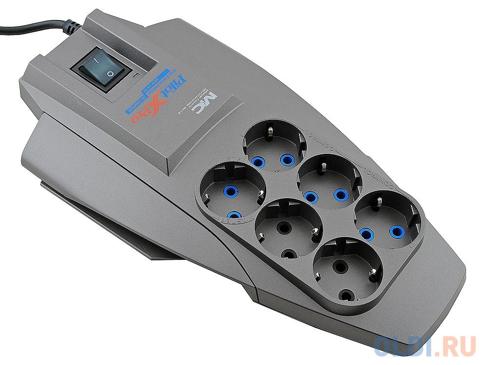 Сетевой фильтр Pilot-X-Pro 10m 6 розеток