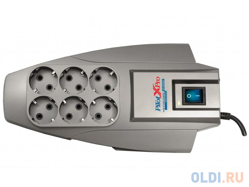 zis pilot pro 10 м светло серый Сетевой фильтр ZIS Pilot X-Pro 6 розеток 1.8 м серый