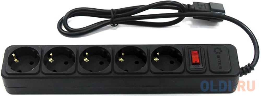 Фото - Сетевой удлинитель 5bites SP5B-110U 5 розеток 1 м сетевой фильтр 5bites sp5b 130 3 м 5 розеток