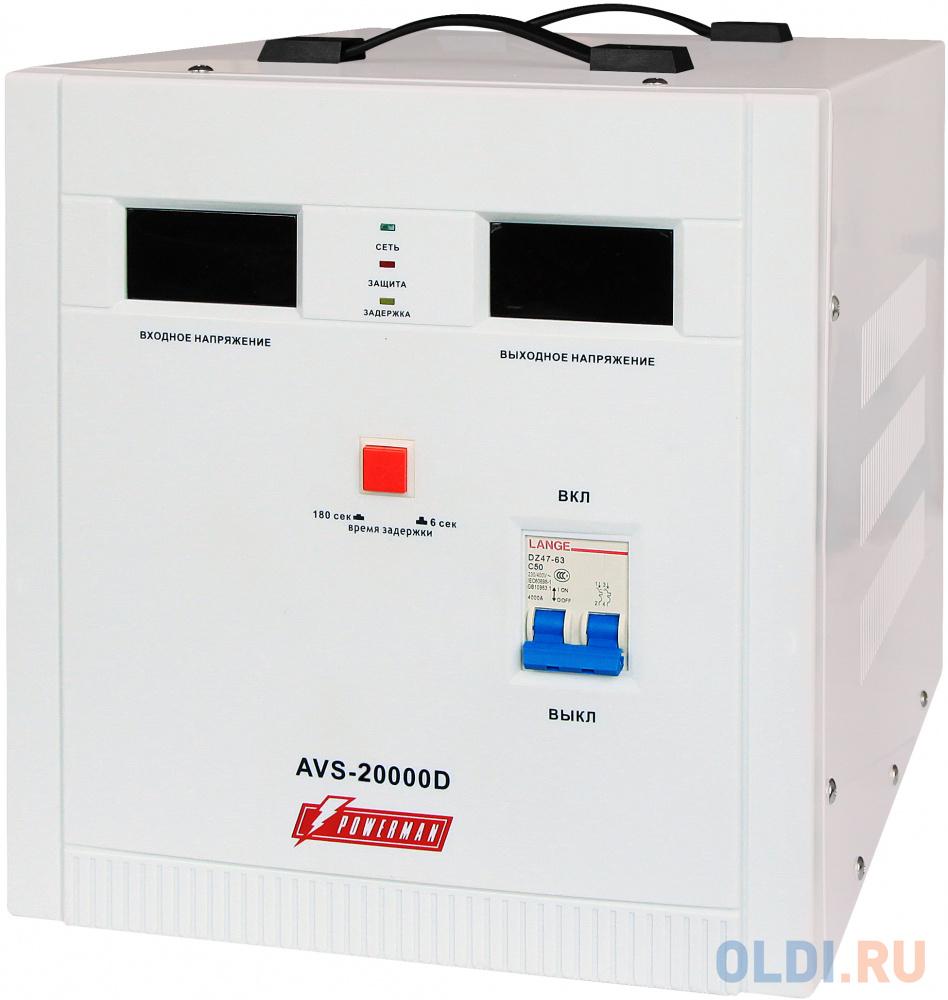 Стабилизатор напряжения Powerman AVS 20000D — белый стабилизатор powerman avs 1500 d