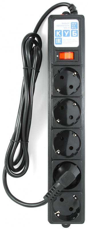 Сетевой фильтр Power Cube SPG-B-6 5 розеток 1.9 м черный фото