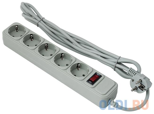 Сетевой фильтр Exegate SP-5-1.5G 5 розеток 1.5 м EX266862RUS сетевой фильтр exegate sp 5 5b ex221188rus 5 м 5 розеток