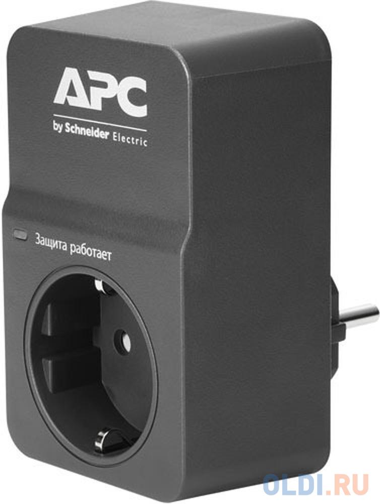 Сетевой фильтр APC PM1WB-RS 1 розетка черный.
