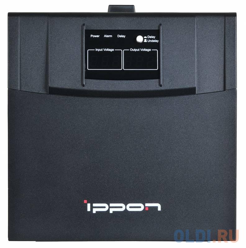 Стабилизатор напряжения Ippon AVR-3000 4 розетки черный