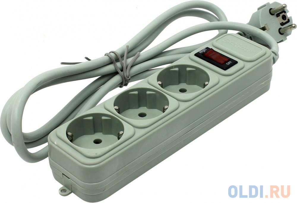 Сетевой фильтр Exegate SP-3-1.8G 3 розетки 1.8 м EX221177RUS.