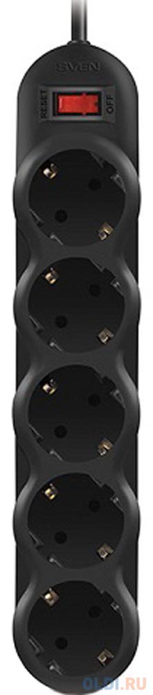 Фото - Сетевой фильтр Sven SF-05L 5 розеток 1 м сетевой фильтр sven optima base 1 8м 3 розеток черный