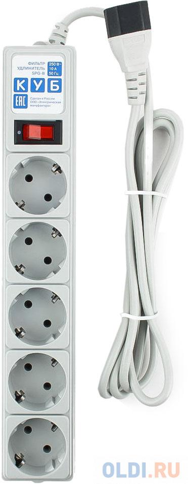 Фото - Сетевой фильтр Power Cube SPG-B-6EXT 5 розеток 1.9 м сетевой фильтр power cube spg b 10 5 розеток 3 м белый