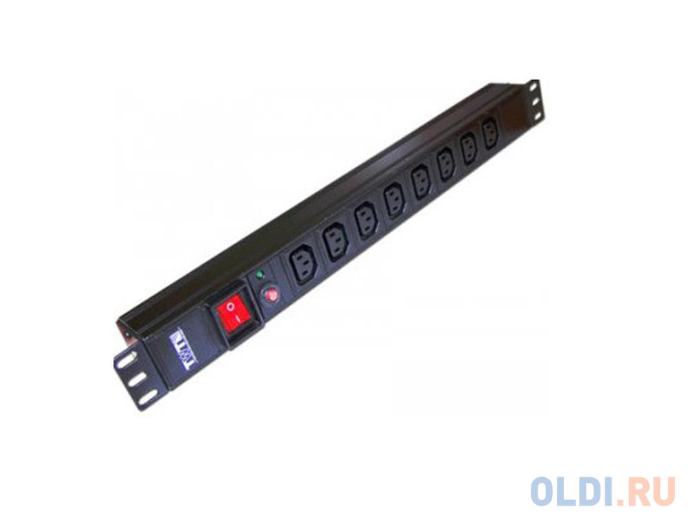 Блок розеток Lanmaster TWT-PDU19-10A8C13 стяжка пластиковая lanmaster twt cv 380