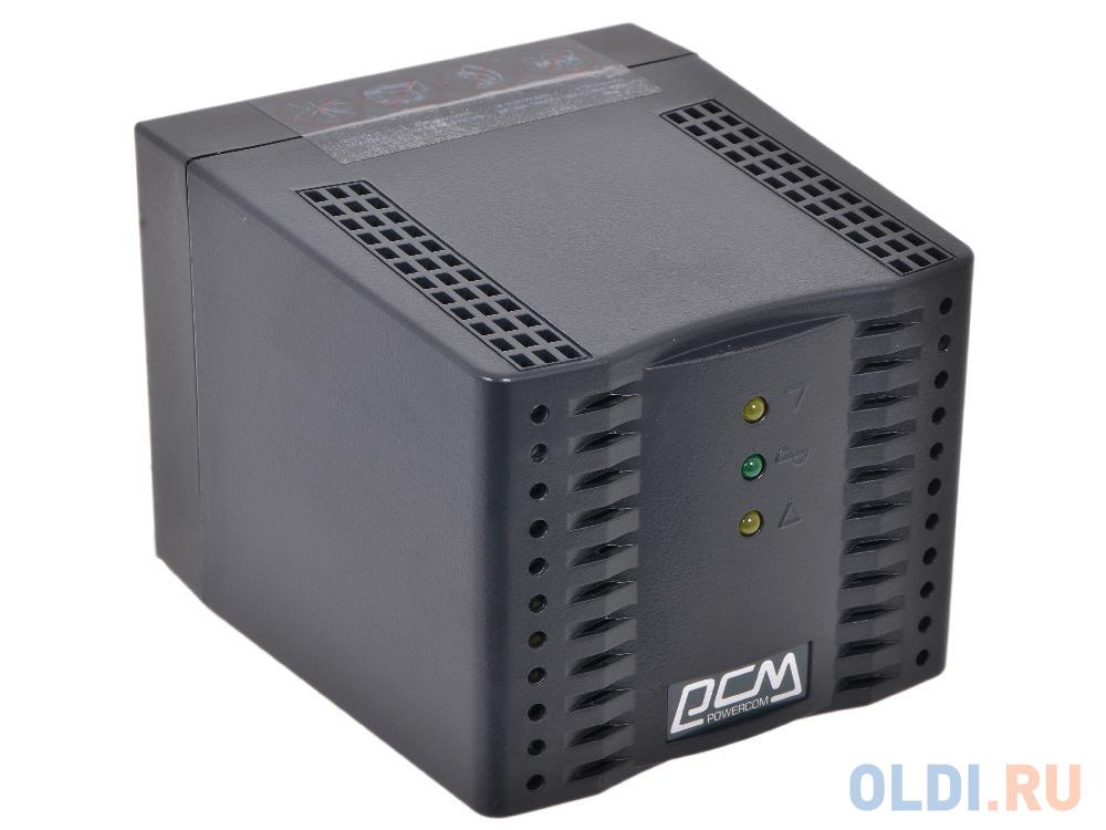 Стабилизатор напряжения Powercom TCA-2000 Black (4 EURO)* черный