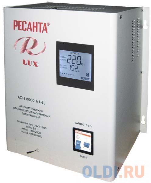 Стабилизатор напряжения Ресанта ACH-8000Н/1-Ц Lux