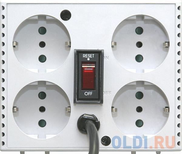 Стабилизатор напряжения Powercom TCA-2000 (4 EURO) белый