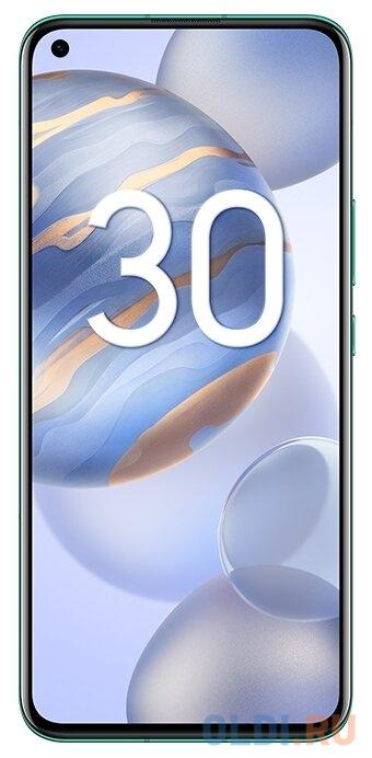 Смартфон Honor 30 зеленый 6.53 128 Гб NFC LTE Wi-Fi GPS 3G Bluetooth 5G BMH-AN10 смартфон samsung galaxy a30s белый 6 4 32 гб nfc lte wi fi gps 3g bluetooth sm a307fzwuser