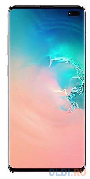 Смартфон Samsung Galaxy S10+ белая керамика 6.4 128 Гб NFC LTE Wi-Fi GPS 3G Bluetooth SM-G975FCWDSER смартфон samsung galaxy s10 128 гб гранатовый sm g975fzrdser