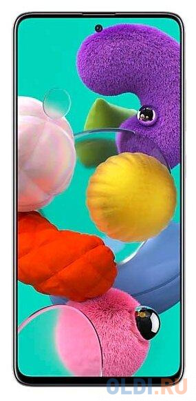 "Смартфон Samsung Galaxy A51 белый 6.5"" 128 Гб NFC LTE Wi-Fi GPS 3G Bluetooth SM-A515FZWCSER"