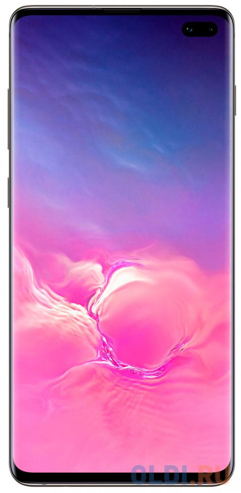 Смартфон Samsung Galaxy S10+ черная керамика 6.4 128 Гб NFC LTE Wi-Fi GPS 3G Bluetooth SM-G975FCKDSER смартфон samsung galaxy s10 128 гб гранатовый sm g975fzrdser