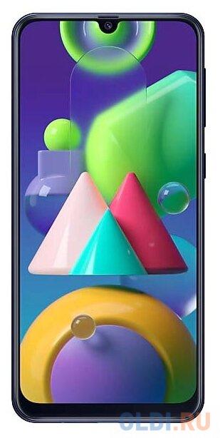 Смартфон Samsung Galaxy M21 синий 6.4 64 Гб NFC LTE Wi-Fi GPS 3G Bluetooth SM-M215FZBUSER смартфон huawei nova 2 золотистый 5 64 гб lte wi fi gps 3g 51091tns