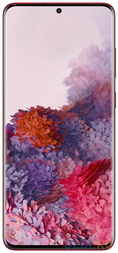 Смартфон Samsung Galaxy S20+ красный 6.7 128 Гб NFC LTE Wi-Fi GPS 3G Bluetooth SM-G985FZRDSER смартфон samsung galaxy a30s белый 6 4 32 гб nfc lte wi fi gps 3g bluetooth sm a307fzwuser