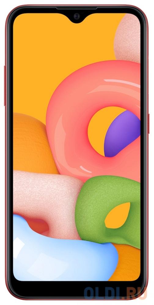 Смартфон Samsung Galaxy A01 (2020) красный 5.7 16 Гб LTE Wi-Fi GPS 3G Bluetooth SM-A015FZRDSER смартфон samsung galaxy a30s белый 6 4 32 гб nfc lte wi fi gps 3g bluetooth sm a307fzwuser