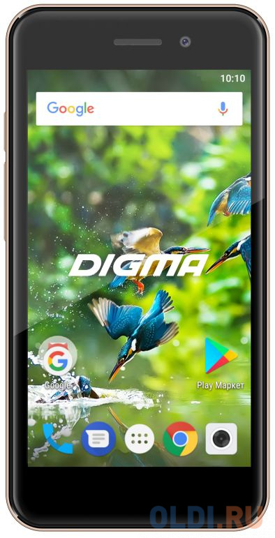 Смартфон Digma LINX A450 3G золотистый 4.5 8 Гб Wi-Fi GPS 3G LT4038PG смартфон huawei nova 2 золотистый 5 64 гб lte wi fi gps 3g 51091tns