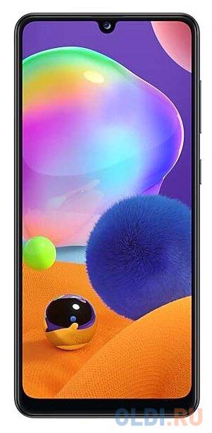 Смартфон Samsung Galaxy A31 черный 6.4 64 Гб NFC LTE Wi-Fi GPS 3G Bluetooth смартфон huawei nova 2 золотистый 5 64 гб lte wi fi gps 3g 51091tns