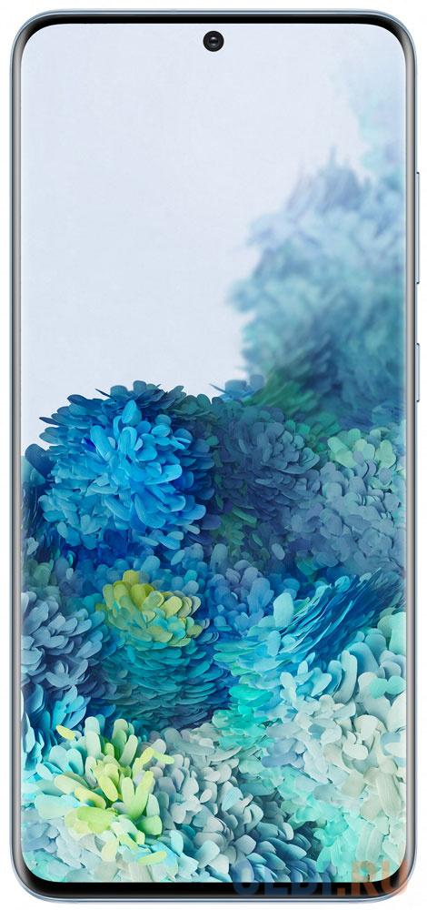 Смартфон Samsung Galaxy S20 голубой 6.2 128 Гб NFC LTE Wi-Fi GPS 3G Bluetooth SM-G980FLBDSER смартфон samsung galaxy a30s белый 6 4 32 гб nfc lte wi fi gps 3g bluetooth sm a307fzwuser