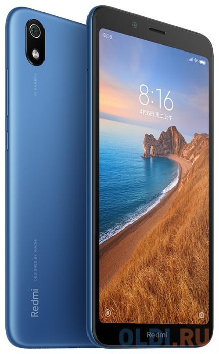 Смартфон Xiaomi Redmi 7A синий 5.45 32 Гб LTE Wi-Fi GPS 3G Bluetooth 24261 смартфон huawei nova 2 золотистый 5 64 гб lte wi fi gps 3g 51091tns
