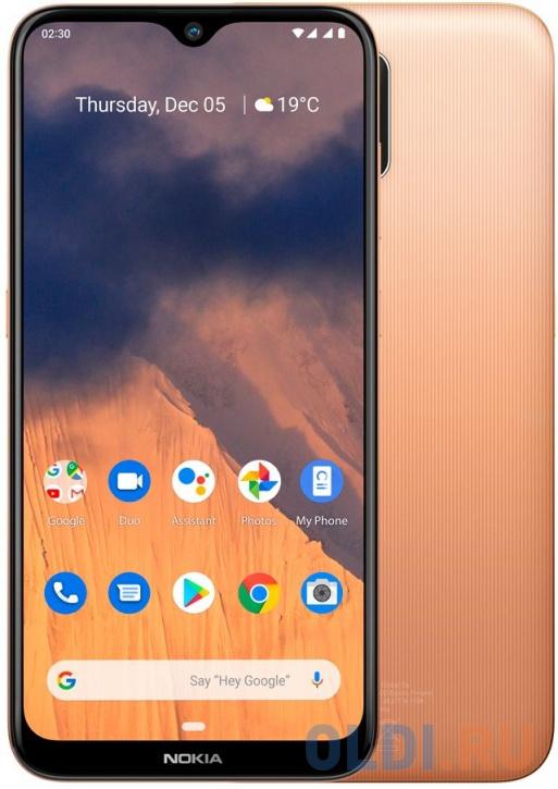 Смартфон NOKIA 2.3 песочный 6.2 32 Гб LTE Wi-Fi GPS 3G Bluetooth смартфон huawei nova 2 золотистый 5 64 гб lte wi fi gps 3g 51091tns