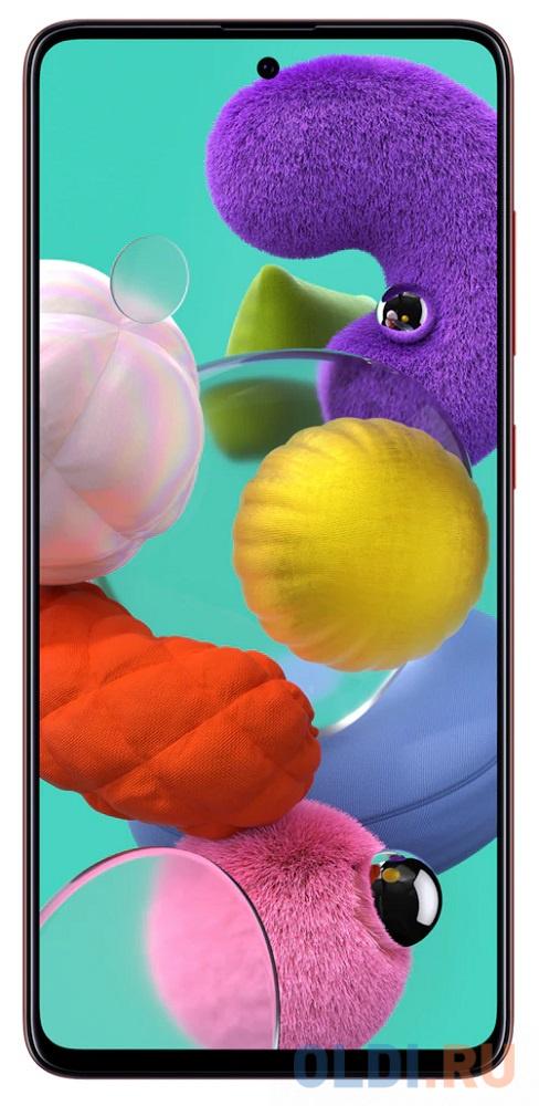 """Смартфон Samsung Galaxy A51 красный 6.5"""" 128 Гб NFC LTE Wi-Fi GPS 3G Bluetooth SM-A515FZRCSER"""