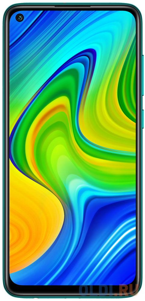 Смартфон Xiaomi Redmi Note 9 зеленый 6.53 64 Гб NFC LTE Wi-Fi GPS 3G Bluetooth смартфон huawei nova 2 золотистый 5 64 гб lte wi fi gps 3g 51091tns