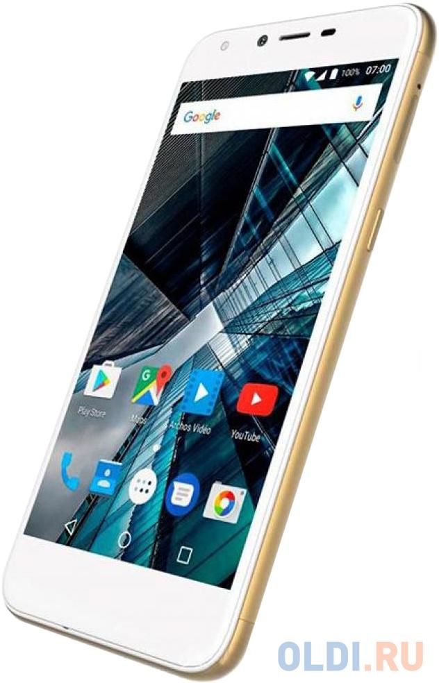 Смартфон ARCHOS Sense 55 DC золотистый 5.5 16 Гб LTE Wi-Fi GPS 3G Bluetooth 4G смартфон huawei nova 2 золотистый 5 64 гб lte wi fi gps 3g 51091tns