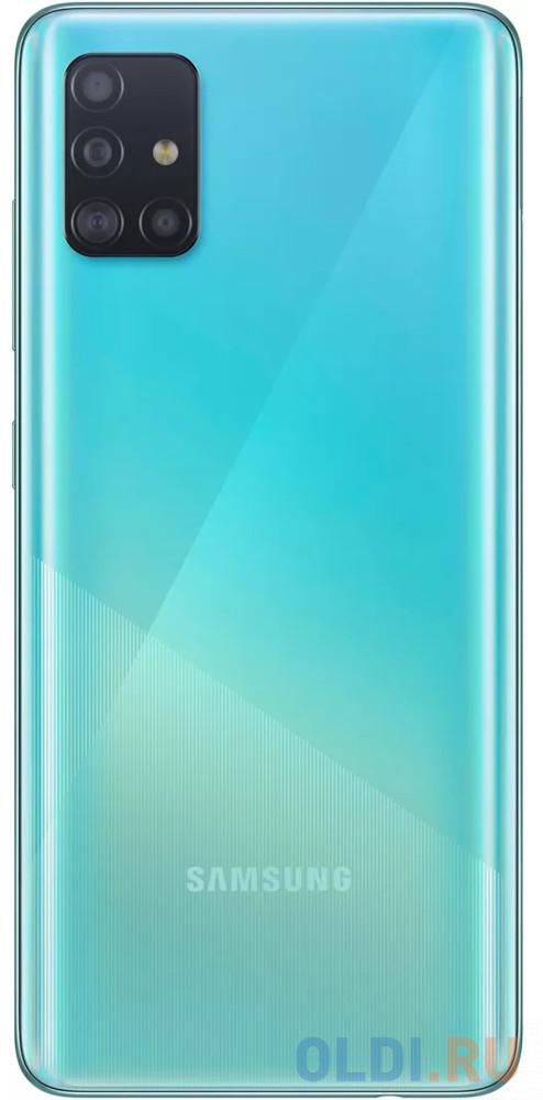 "Смартфон Samsung Galaxy A51 синий 6.5"" 64 Гб NFC LTE Wi-Fi GPS 3G Bluetooth SM-A515FZBMSER"
