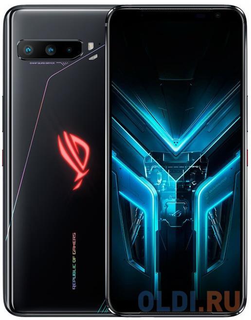 "Смартфон Asus ZS661KS RoG Phone 3 512Gb 12Gb черный моноблок 3G 4G 2Sim 6.59"" 1080x2340 Android 10.0 64Mpix 802.11 a/b/g/n/ac/ax NFC GPS GSM900/1800 GSM1900 TouchSc MP3"