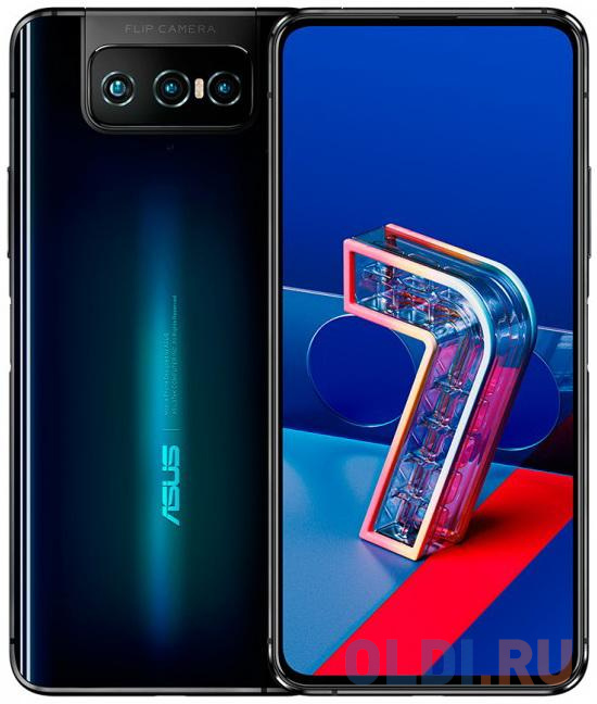 "Смартфон ASUS ZS671KS Zenfone 7 Pro черный 6.67"" 256 Гб NFC LTE Wi-Fi GPS 3G Bluetooth 5G 4G"
