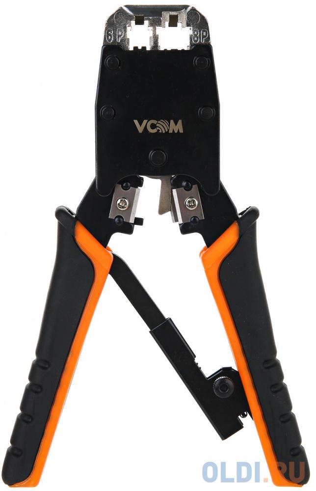 VCOM NT081 Клещи обжимные (кримпер), для разъемов 8p8c, с фиксатором