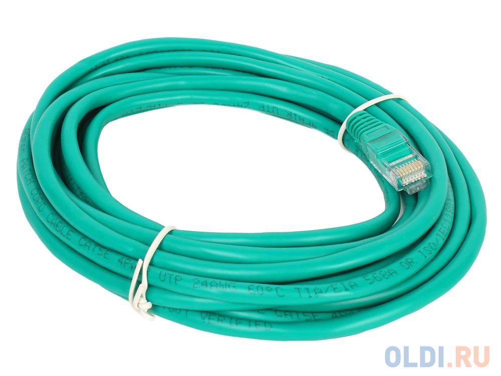 Патч-корд литой Aopen/Qust UTP кат.5е 5м зеленый bion патч корд utp кат 5е 5м зеленый [бион][bnpp12 5m g]
