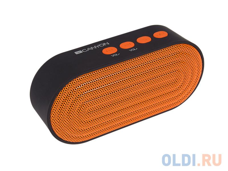 Портативная акустикаCanyon CNE-CBTSP3 черный/оранжевый портативная акустика canyon cne cbtsp6 black