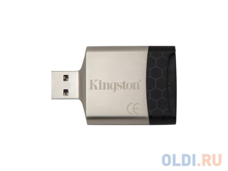 Картридер внешний Kingston FCR-MLG4 USB3.0 черный картридер ginzzu gr 322b с интерфейсом usb 3 0 sd sdxc sdhc mmc и 2 x microsd microsdxc microsdhс черный