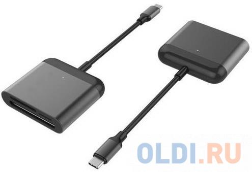cfast card reader usb3 1 dual port usb a usb c portable gen2 10gbps cfast reader Кардридер Hyper HyperDrive USB-C Pro Card Reader порт Type-C, типы поддерживаемых карт: CFast, Micro SD, SD. Цвет черный.