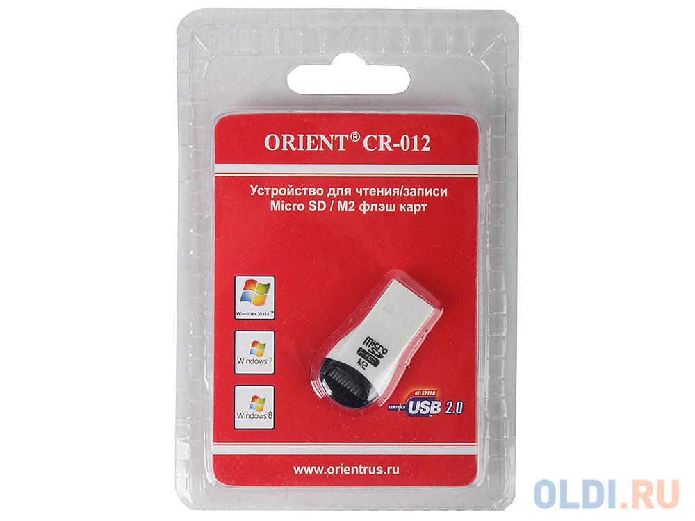 Картинка для Картридер ORIENT Mini CR-012 (Micro SD, M2) Black/Red