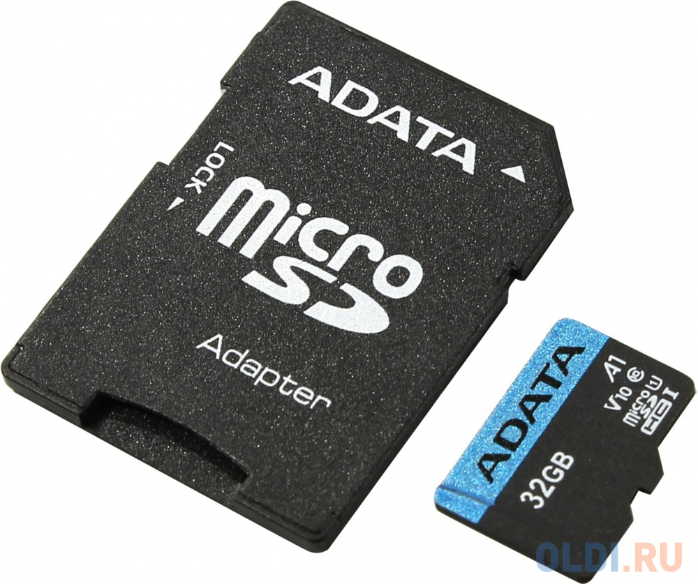 Карта памяти 32GBи Premier A1 MicroSDHC UHS-I Class 10 ADATA 90/25 MB/s с адаптером