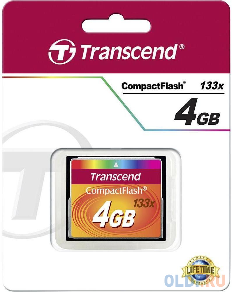 Карта памяти Compact Flash 4Gb Transcend 133x