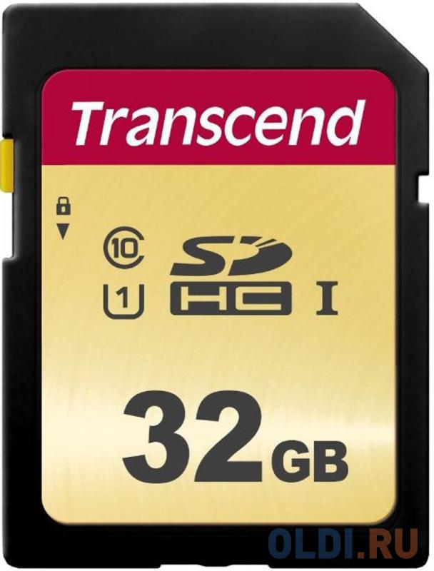 Флеш-накопитель Transcend Карта памяти Transcend 32GB UHS-I U1 SD card MLC карта памяти microsd 32gb transcend 500s uhs i u1 sd адаптер mlc