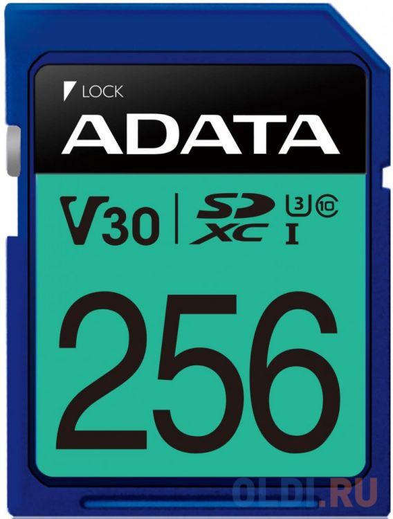 Флеш карта SD 256GB A-DATA Premier Pro SDXC Class 10 UHS-I U3 V30S 95/60 MB/s карта памяти 256gb a data premier one secure digital xc uhs ii u3 class 10 asdx256guii3cl10 c