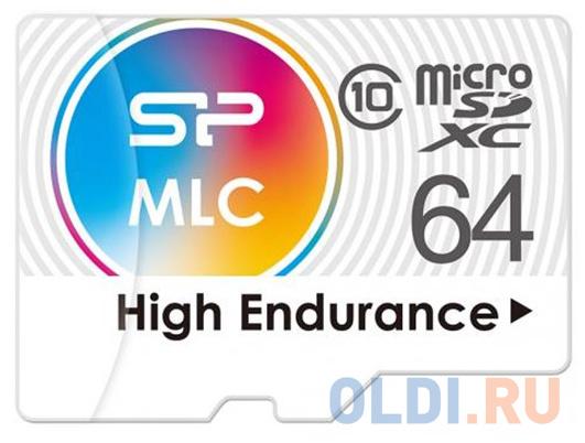 Флеш карта microSD 64GB Silicon Power High Endurance microSDXC Class 10 UHS-I U3 (SD адаптер), MLC флеш карта microsd 256gb silicon power superior pro a1 microsdxc class 10 uhs i u3 colorful 100 80 mb s sd адаптер sp256gbstxdu3v20ab