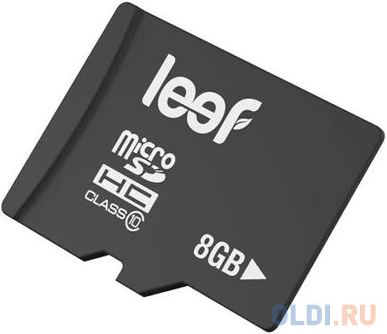 Фото - Карта памяти microSDHC Leef PRO, 8 Гб, UHS-I Class 10 U1, с адаптером карта памяти micro sdxc 128gb class 10 pro leef lfmsdpro 12810r