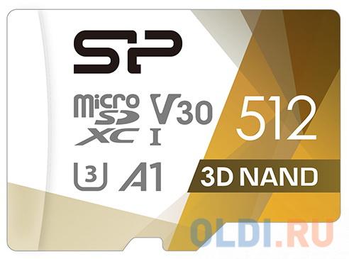 Флеш карта microSD 512GB Silicon Power Superior Pro A1 microSDXC Class 10 UHS-I U3 Colorful 100/80 Mb/s (SD адаптер) флеш карта microsd 256gb silicon power superior pro a1 microsdxc class 10 uhs i u3 colorful 100 80 mb s sd адаптер sp256gbstxdu3v20ab