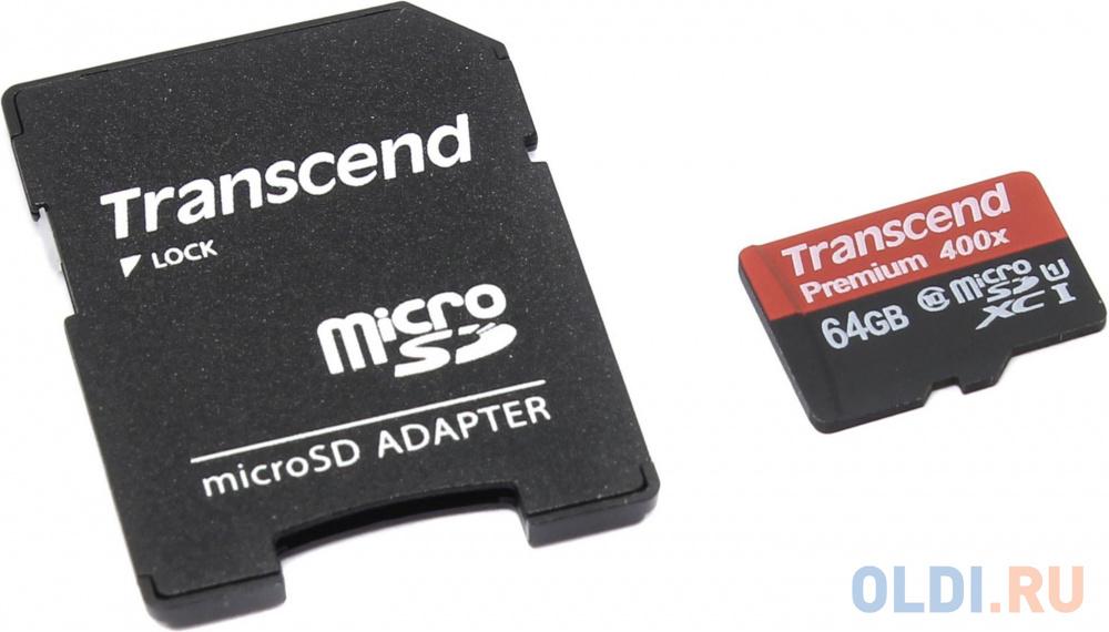 Фото - Карта памяти MicroSDXC 64GB Transcend UHS-I U1 + SD Adapter (TS64GUSDU1) карта памяти microsdhc 16gb transcend uhs i u1 sd adapter ts16gusdu1