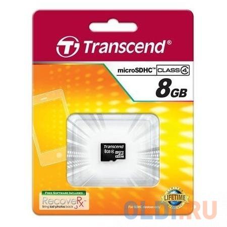 Фото - Карта памяти MicroSDHC 8GB Transcend Class4 no Adapter (TS8GUSDC4) карта памяти transcend ts4gsdhc10