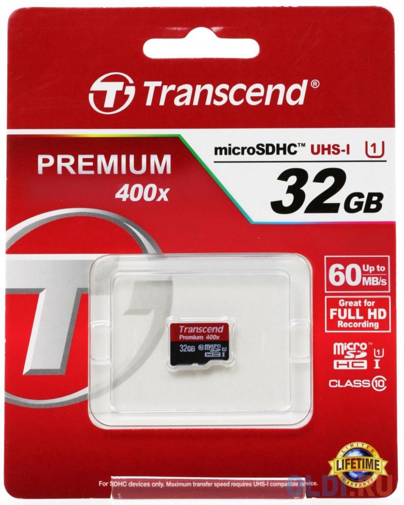 Фото - Карта памяти MicroSDHC 32GB Transcend UHS-I U1 (TS32GUSDCU1) карта памяти microsdhc 16gb transcend uhs i u1 sd adapter ts16gusdu1