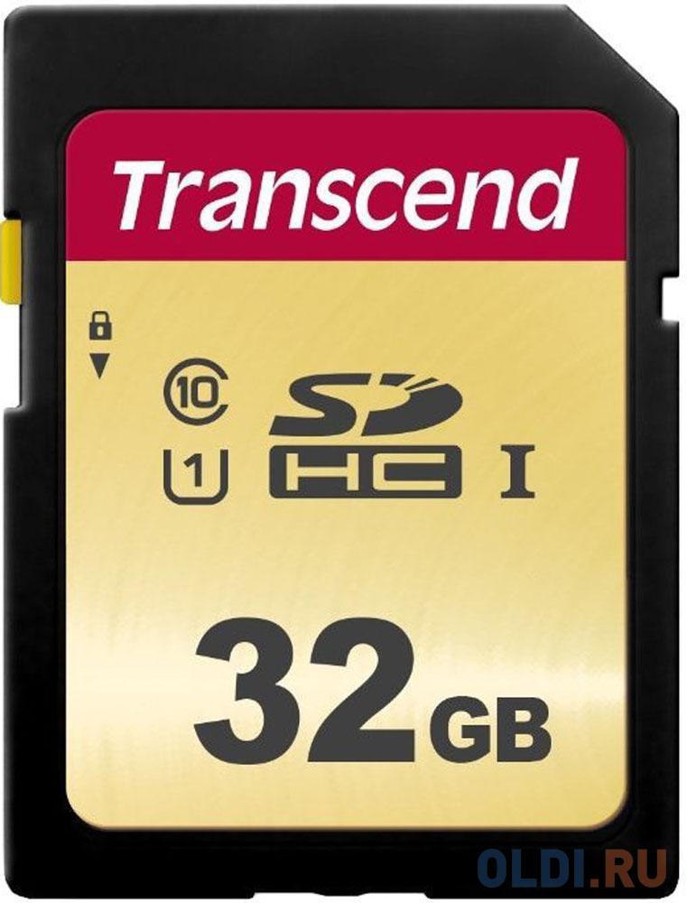 Фото - Флеш-накопитель Transcend Карта памяти Transcend 32GB UHS-I U1 SD card MLC флеш накопитель transcend карта памяти transcend 16gb uhs i u3 microsd with adapter mlc ts16gusd5005